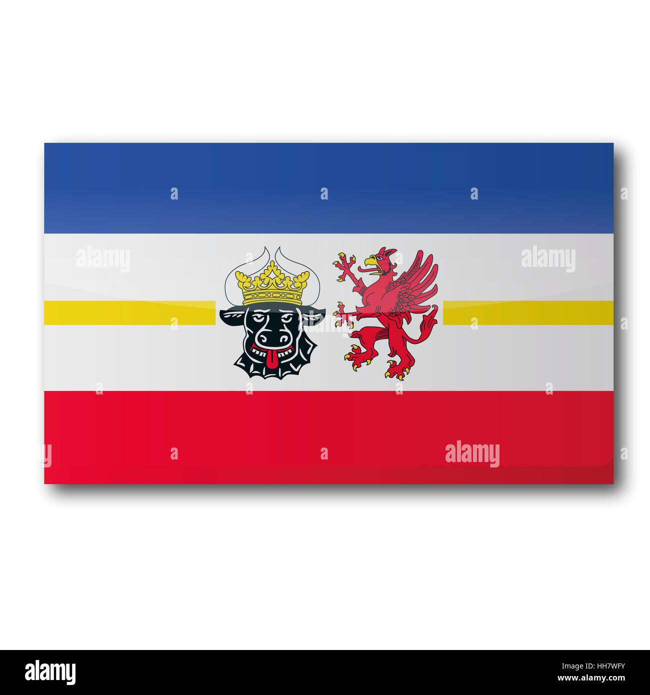 flag mecklenburg-vorpommern - Stock Image