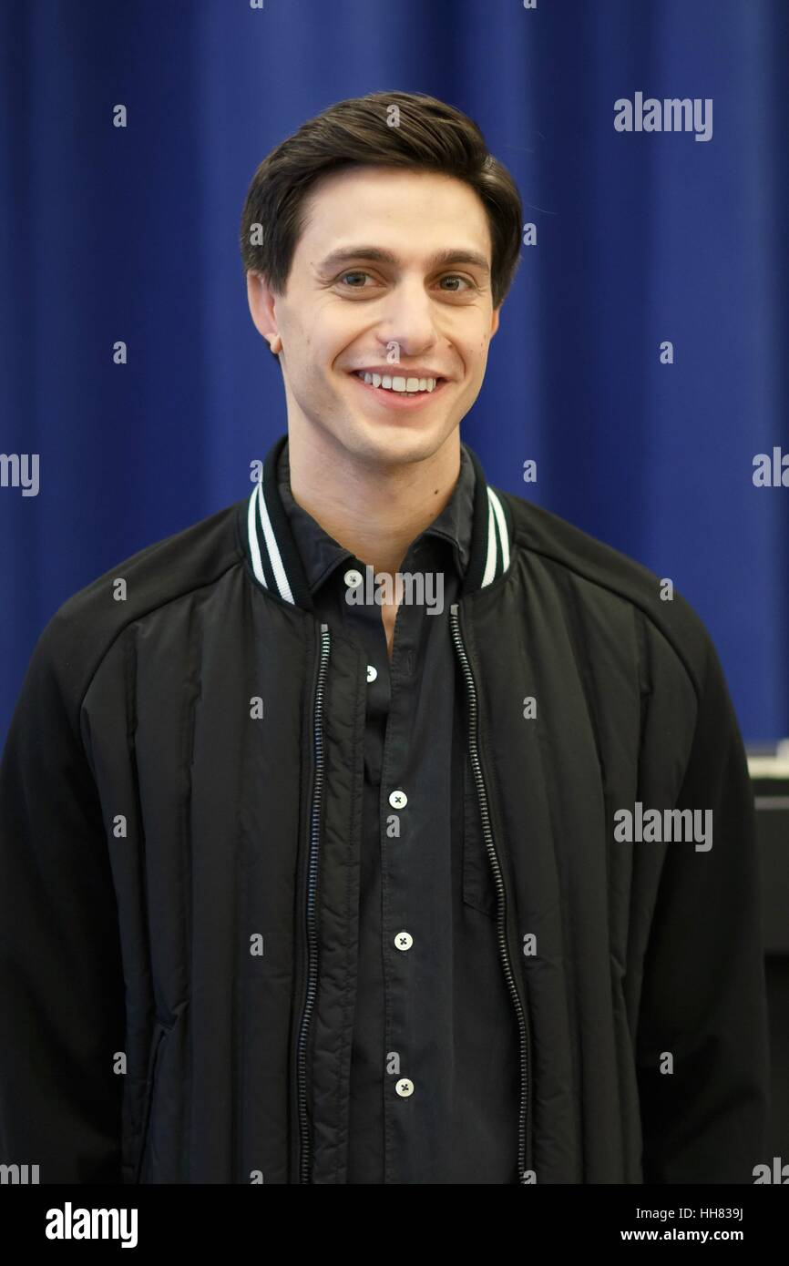 New York, USA. 17th Jan, 2017. Gideon Glick at the Photo Call for 'Significant Other' Press Event, at The - Stock Image