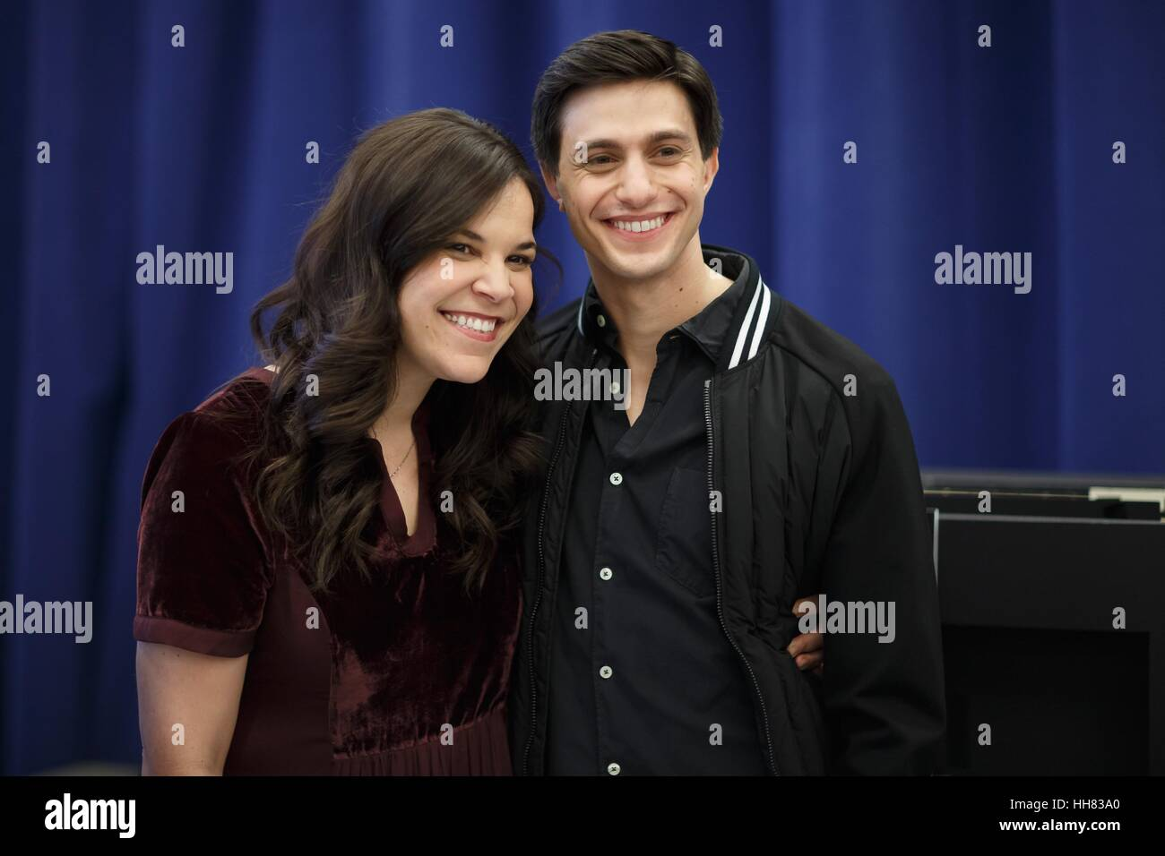 New York, USA. 17th Jan, 2017. Lindsay Mendez, Gideon Glick at the Photo Call for 'Significant Other' Press - Stock Image