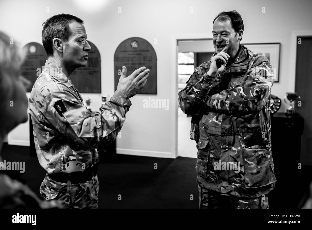 Upavon, UK, 17th January 2017. Lieutenant General Patrick Sanders CBE DSO (Commander of the Field Army) visits Force - Stock Image