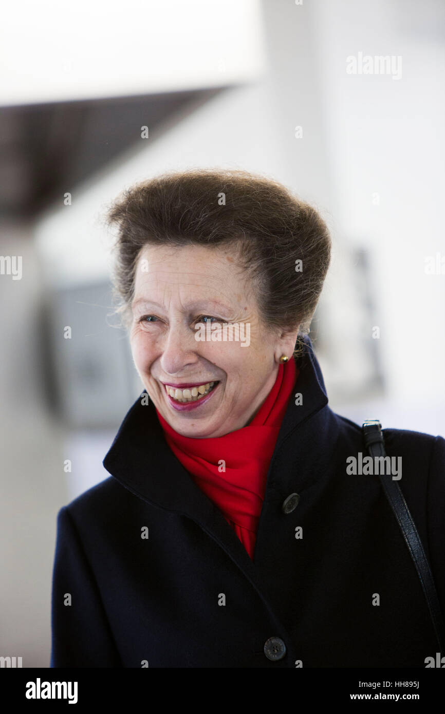 Holton Lee, Dorset, UK. 18th January, 2017. Princess Anne opened, the charity Livability's, new Spinal Injury Centre Stock Photo