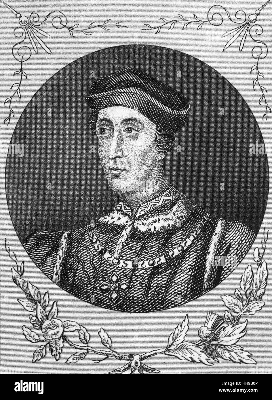 Henry VI (1421 – 1471) was King of England from 1422 to 1461 and again from 1470 to 1471. The only child of Henry - Stock Image