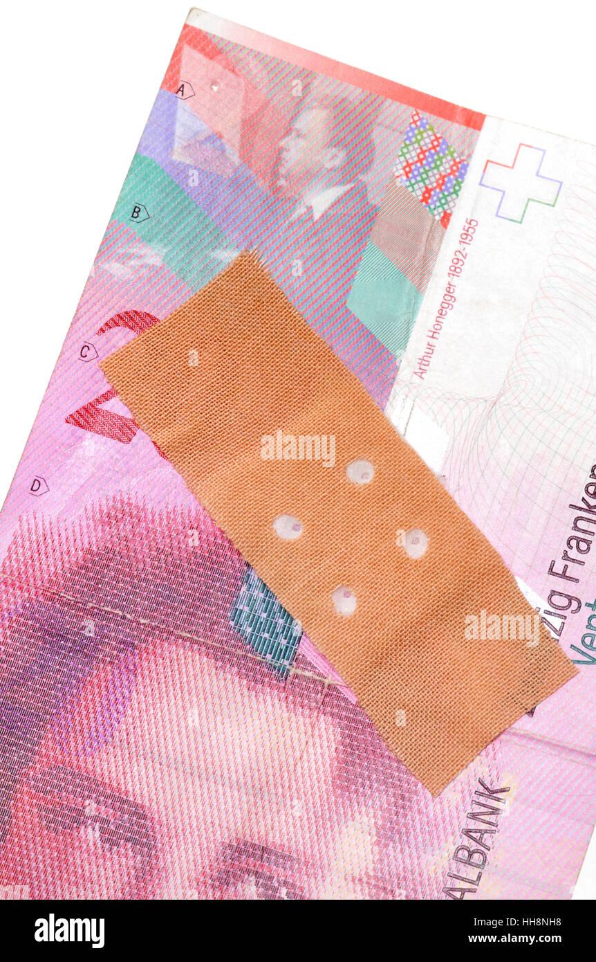 switzerland, plaster, poor, weak, nervelessly, chippy, pasted, weakened, - Stock Image