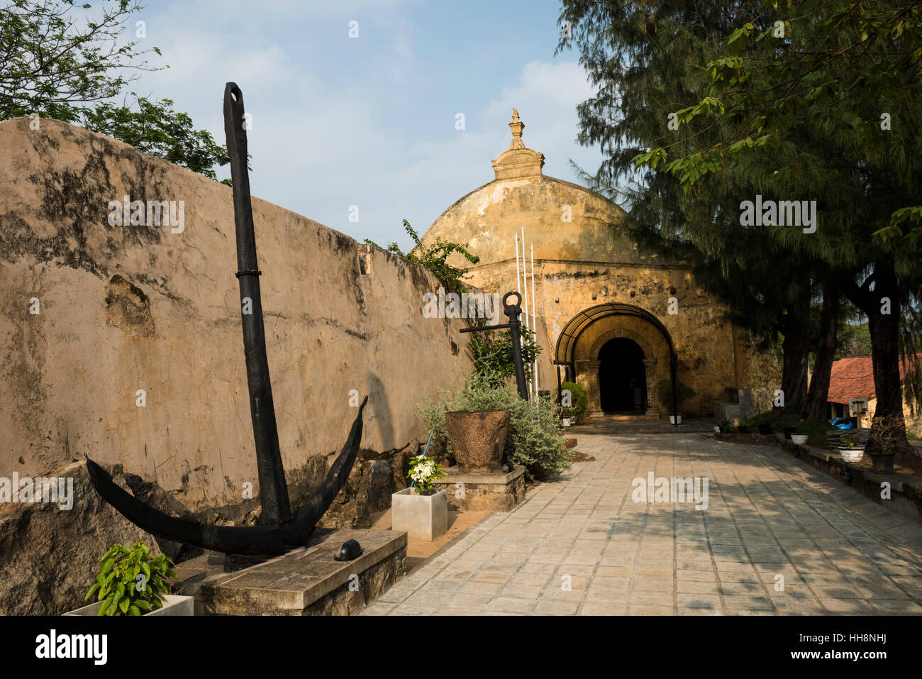 National Maritime Archaeology Museum housed in former Dutch warehouse, Galle Fort, Galle, Sri Lanka - Stock Image