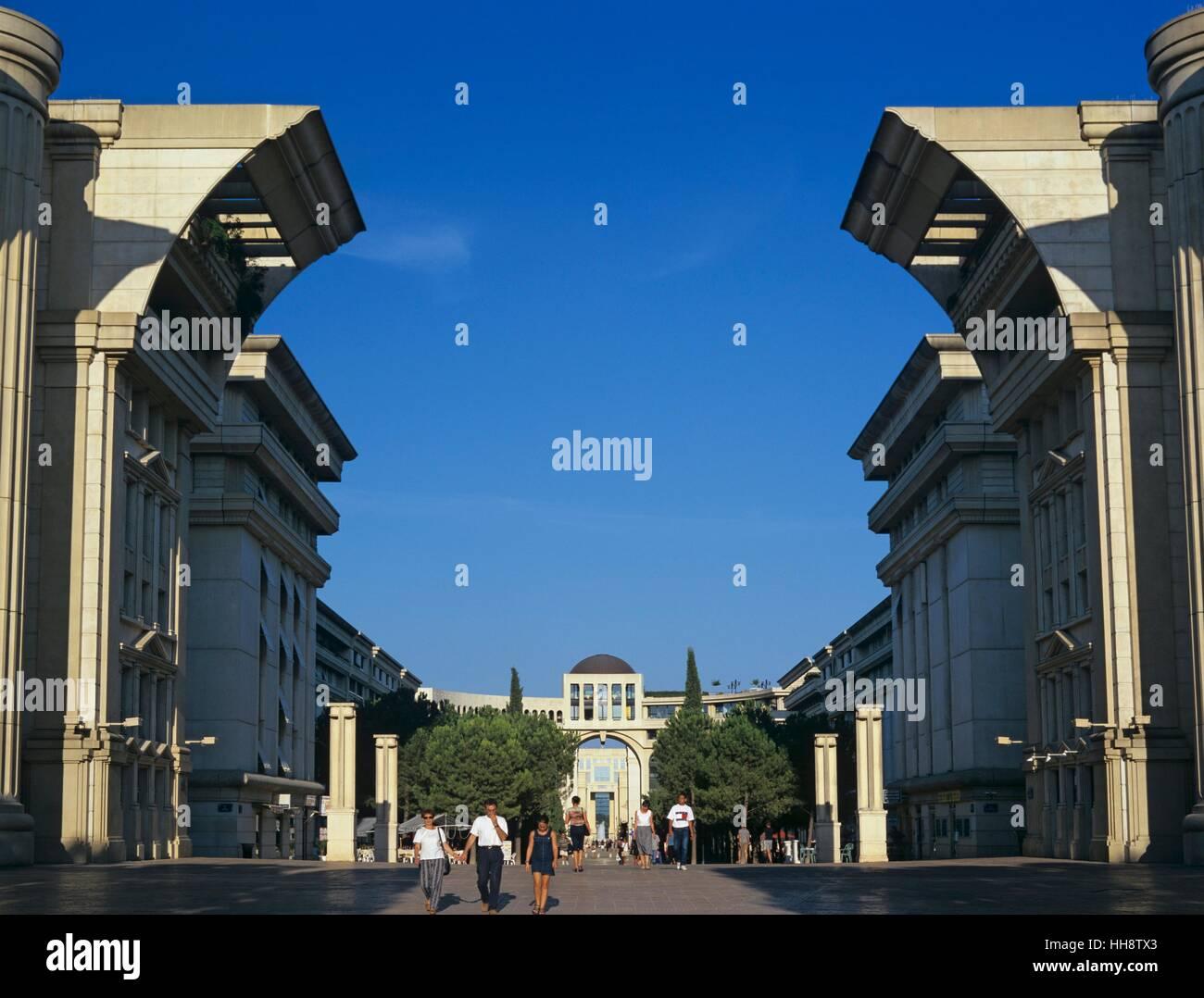 Antigone Complex, Montpellier, Dept. Herault, Languedoc-Roussillon, Frankreich - Stock Image