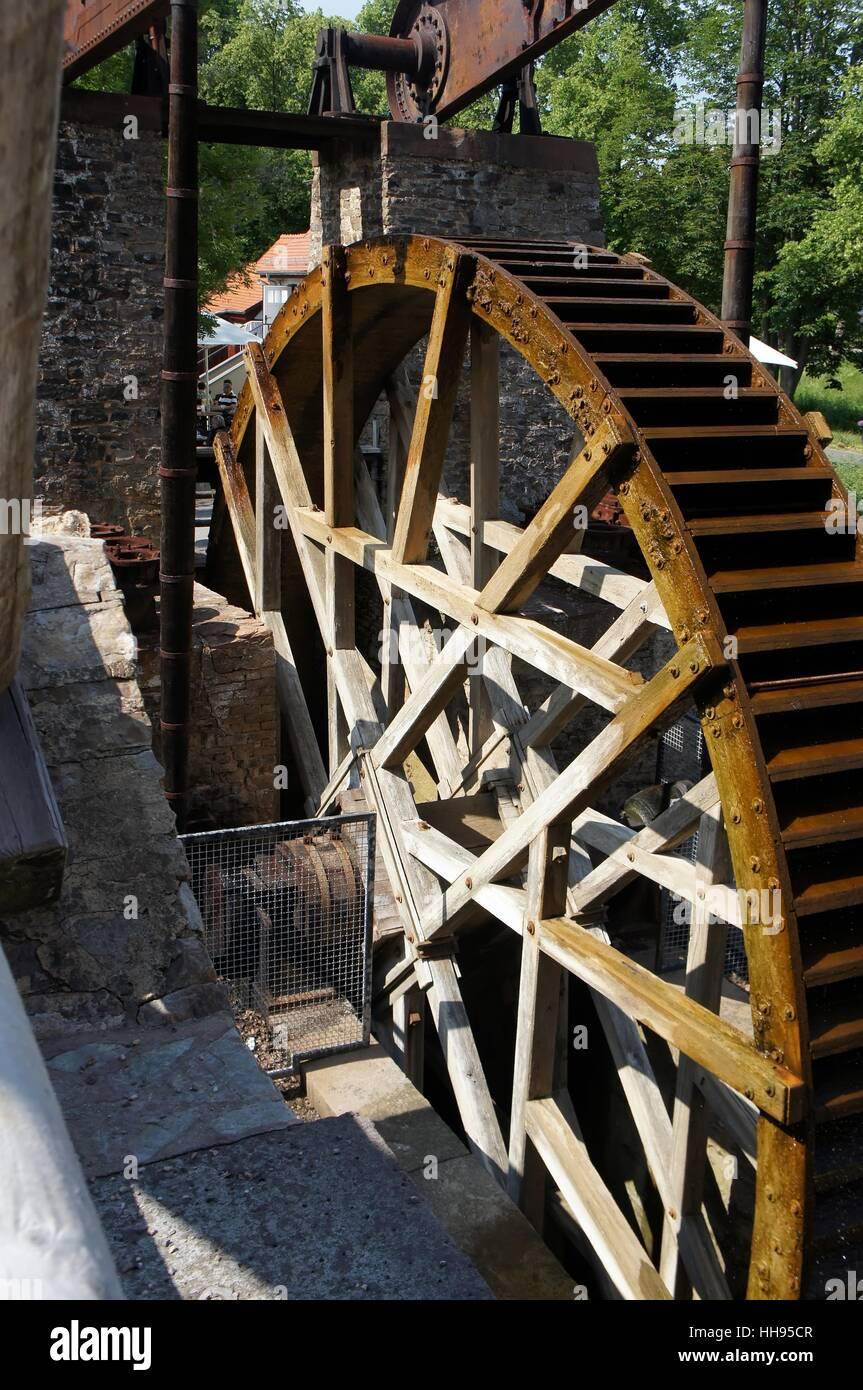 water wheel water mill water pump salt extraction drop drip