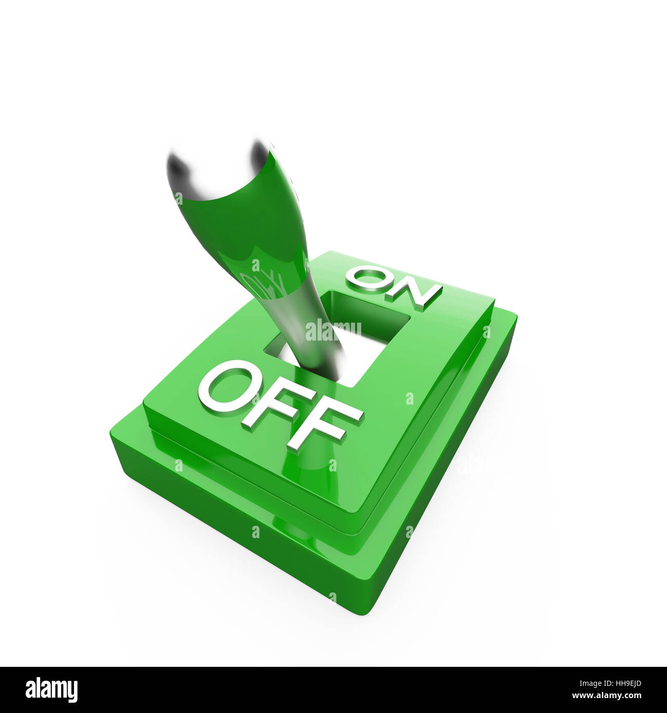 switch, out, one, toggle switch, sign, signal, macro, close-up, macro - Stock Image