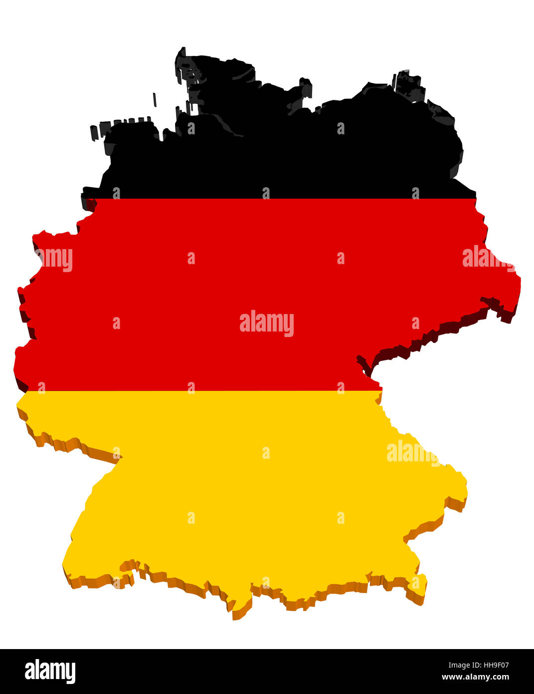 germany map 3d - Stock Image