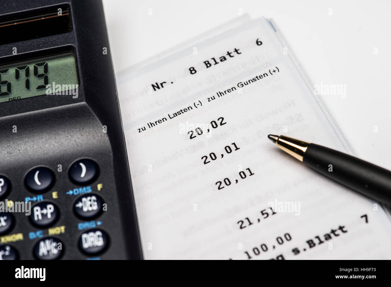 pocket calculator, expression, number, percent, pen, style, pencil, bank, Stock Photo
