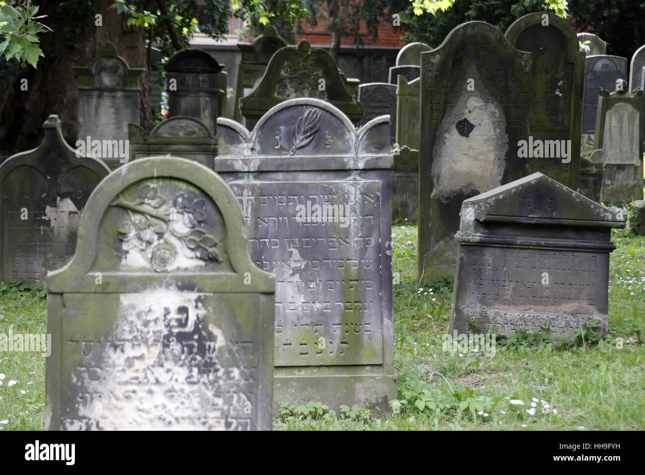 jewish cemetery in hameln Stock Photo