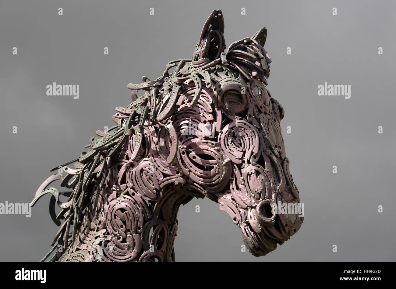 Art Work Of Art Horse Animal Sculpture Decor Riding Horseshoe Stock Photo Alamy