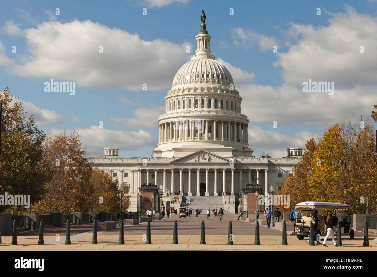 The US Capitol building east portico - Washington, DC USA - Stock Image