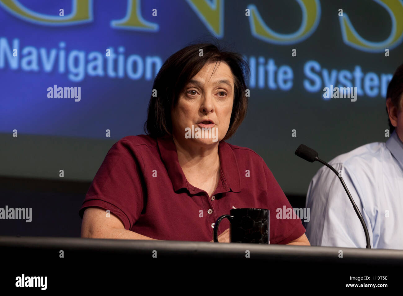 Christine Bonniksen, CYGNSS program executive with the Science Mission Directorate's Earth Science Division - Stock Image