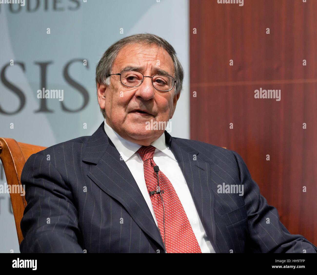 Leon Panetta, former CIA director and Defense secretary of the USA - Stock Image
