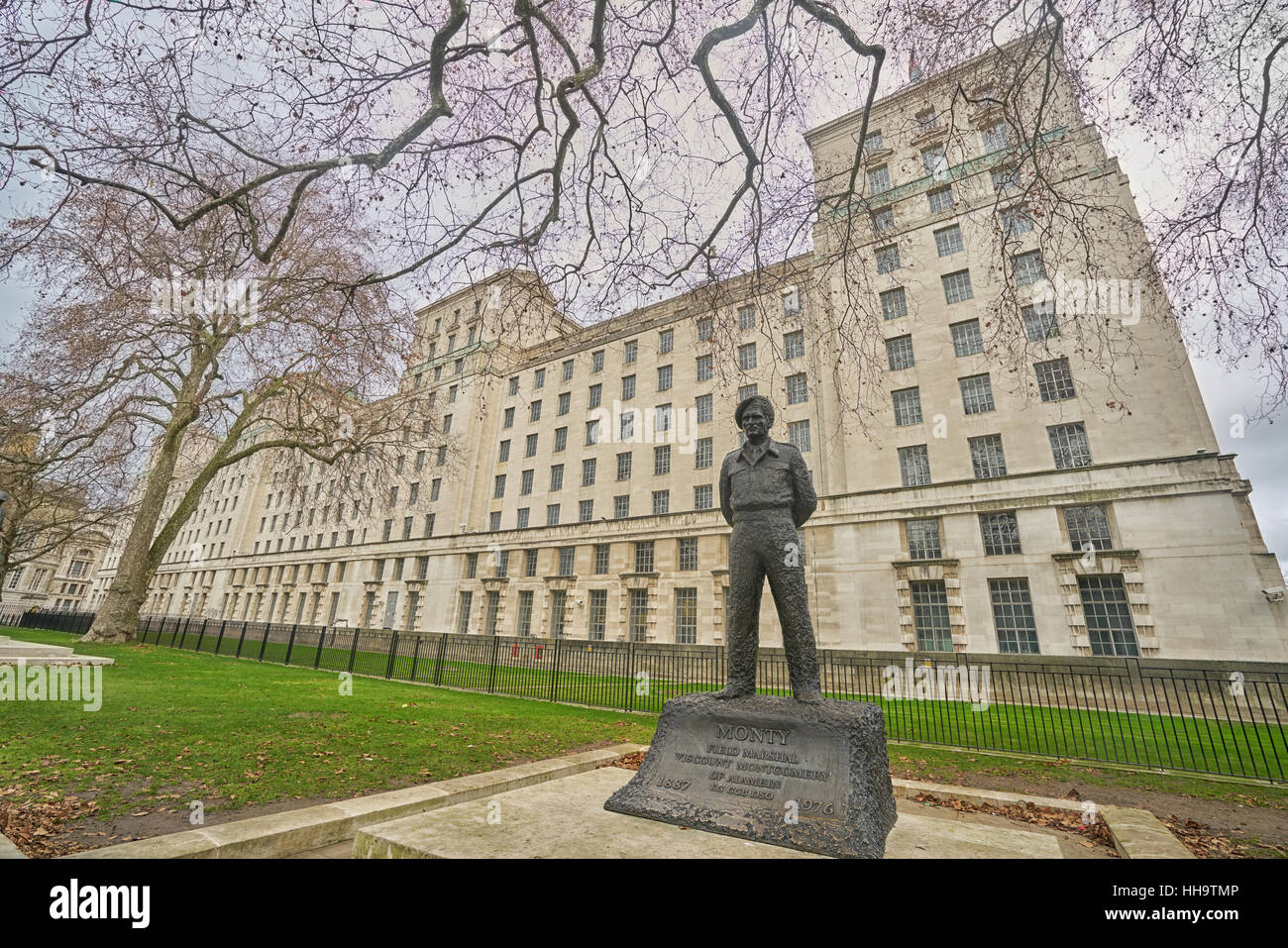 ministry of defence   London.  MOD.   Whitehall. - Stock Image