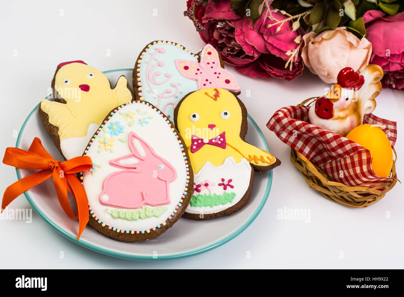 easter themed cakes on a white background stock photo 131139738 alamy