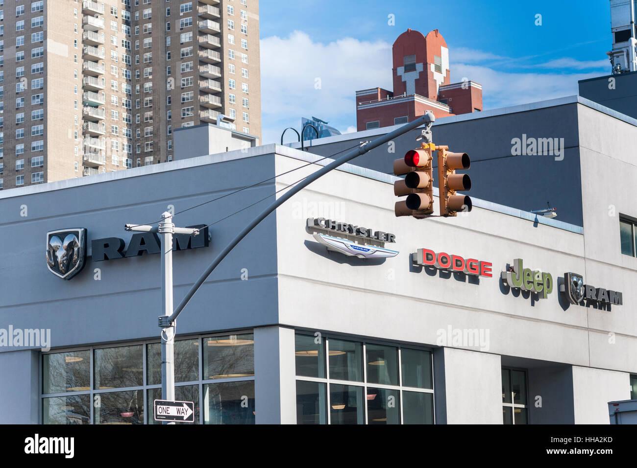 A Chrysler dealer in Manhattan in New York on Thursday, January 12, 2017. The U.S. Environmental Protection Agency Stock Photo