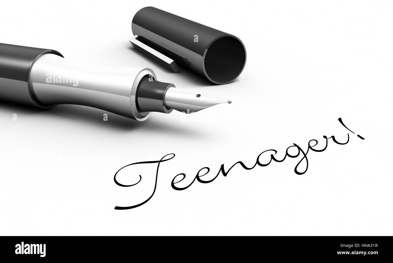 teenager! - pen concept - Stock Image