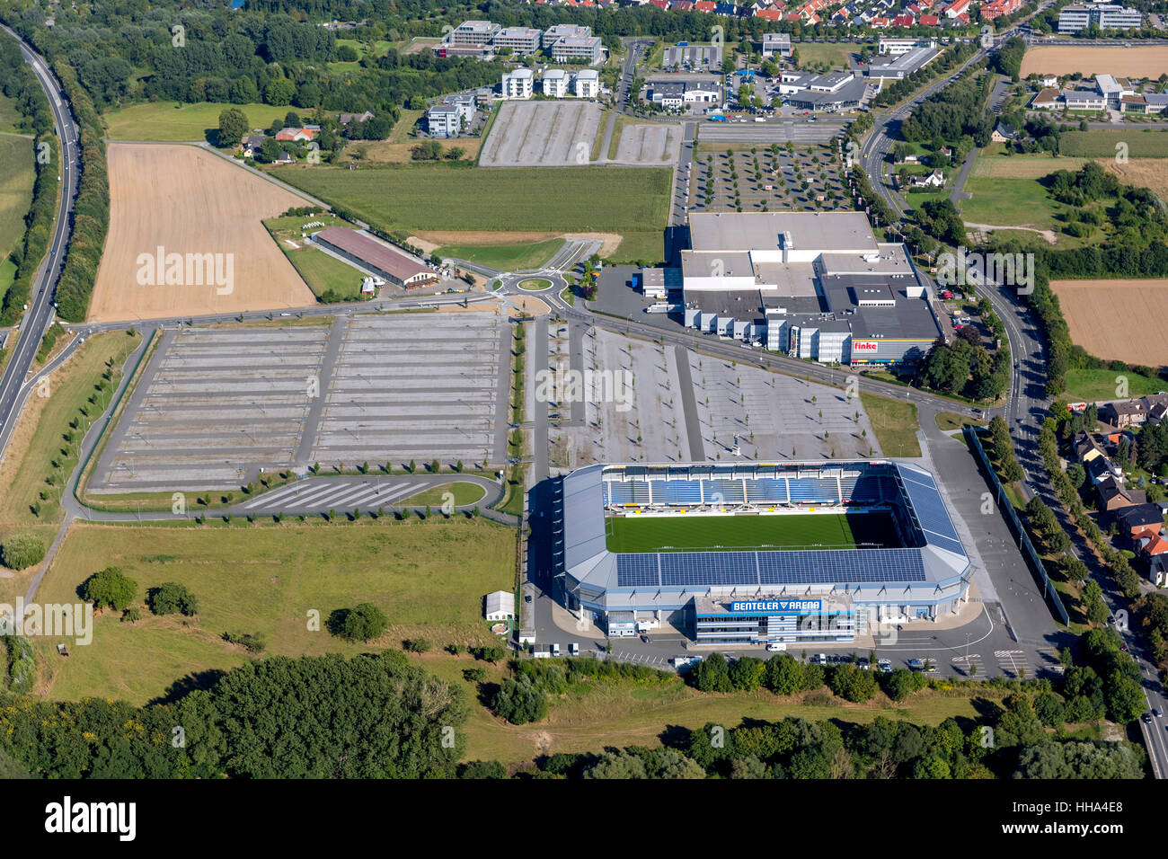 Benteler Arena, soccer stadium in Paderborn, home ground of second division SC Paderborn 07, Soccer, Second Bundesliga, - Stock Image