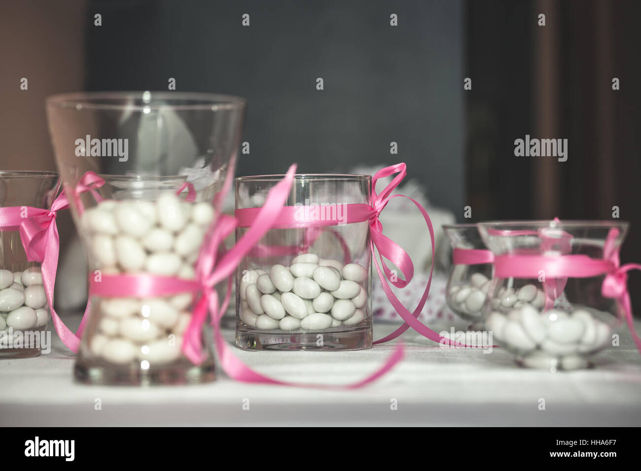 Wedding Candy Decorations On A Table Stock Photo 131146379 Alamy