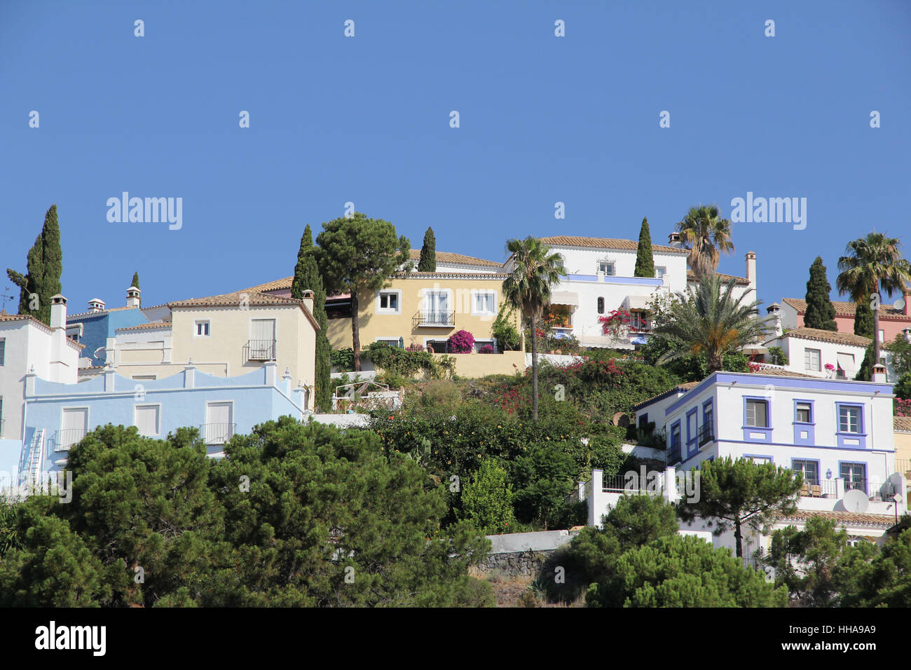 spain, andalusia, colony, community, village, market town, houses, hill, - Stock Image