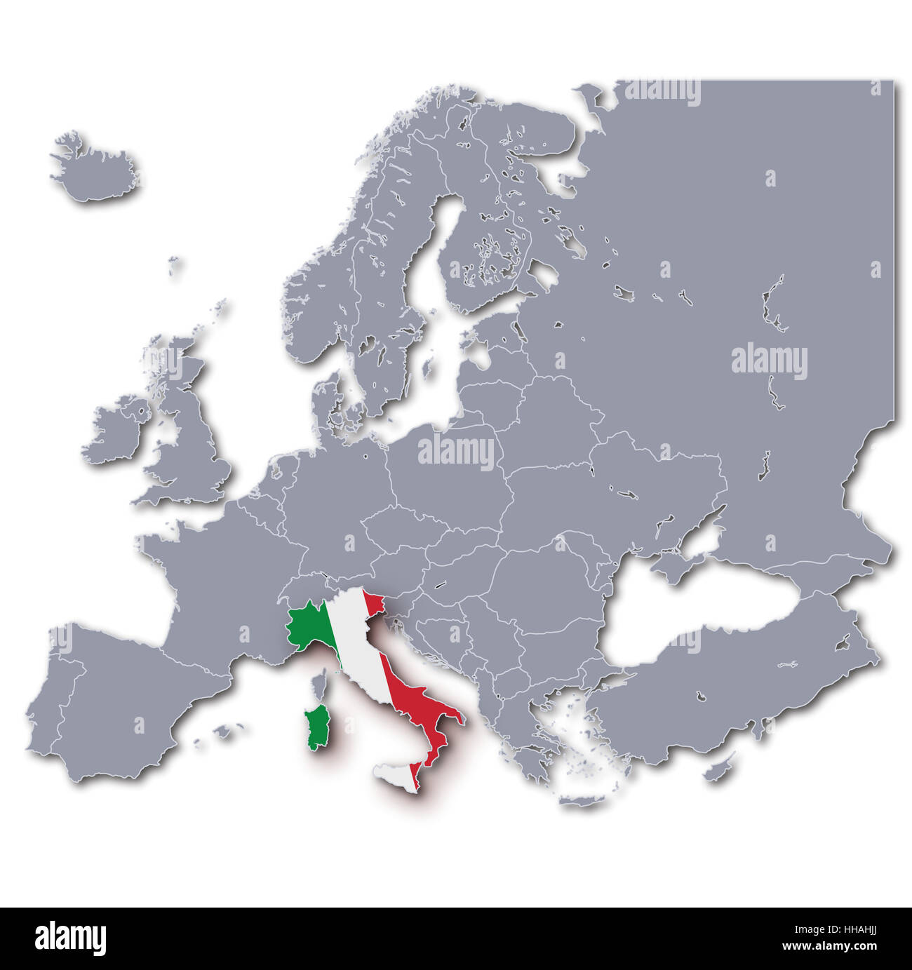 Europe Map Italy Stock Photos Europe Map Italy Stock Images Alamy