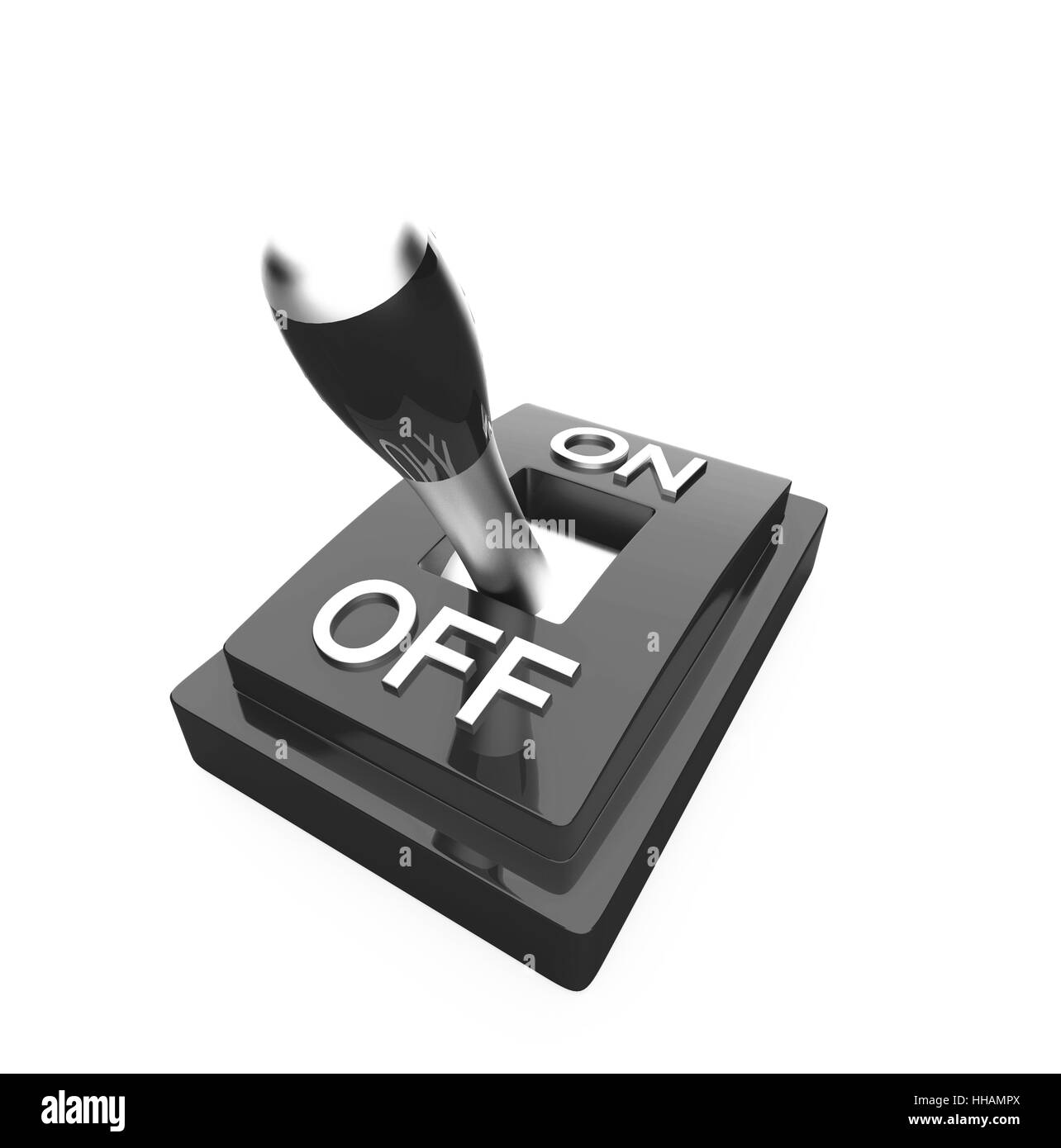 the black 3d toggle switch - off - Stock Image