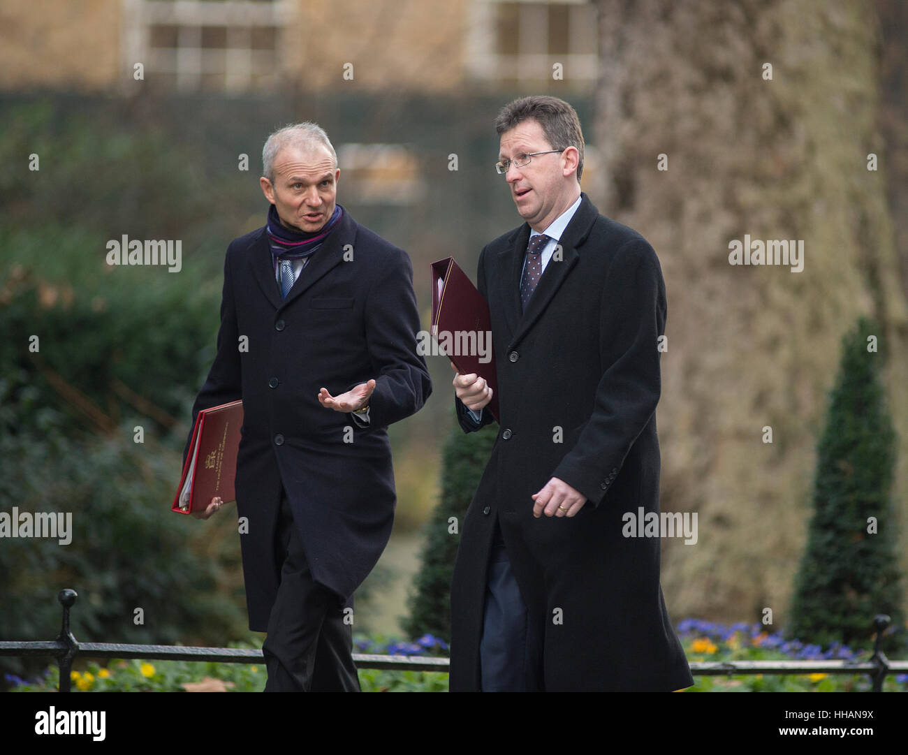 David Lidlington, Lord President of the Council, Leader of the House of Commons and Jeremy Wright QC, Attorney General - Stock Image