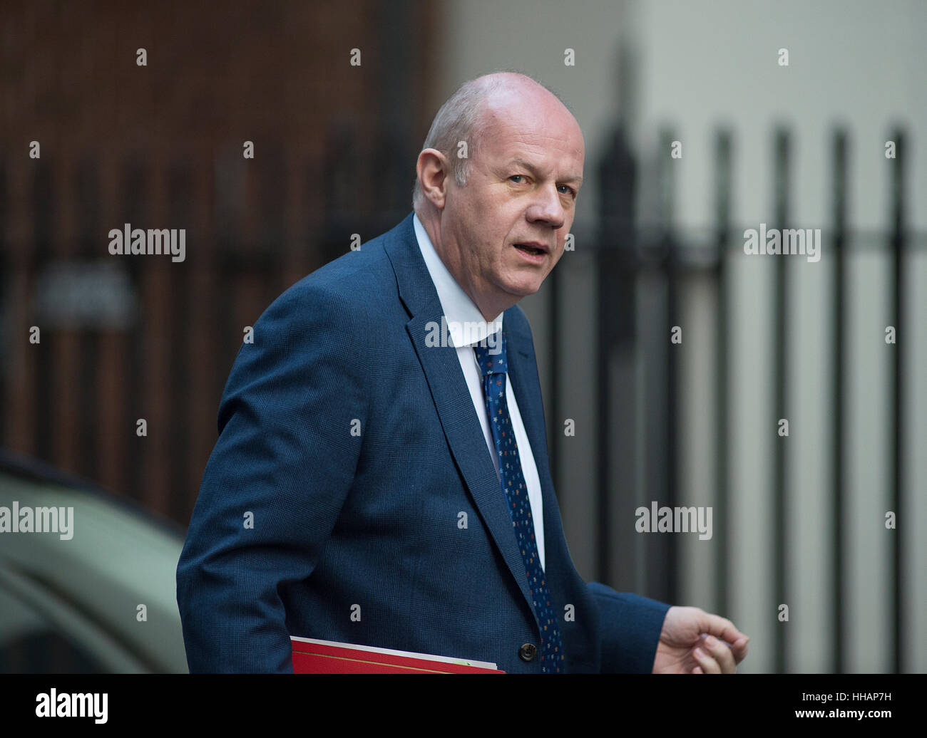 Damian Green, Secretary of State for Work and Pensions, arrives for the weekly cabinet meeting on day of PM's Brexit - Stock Image