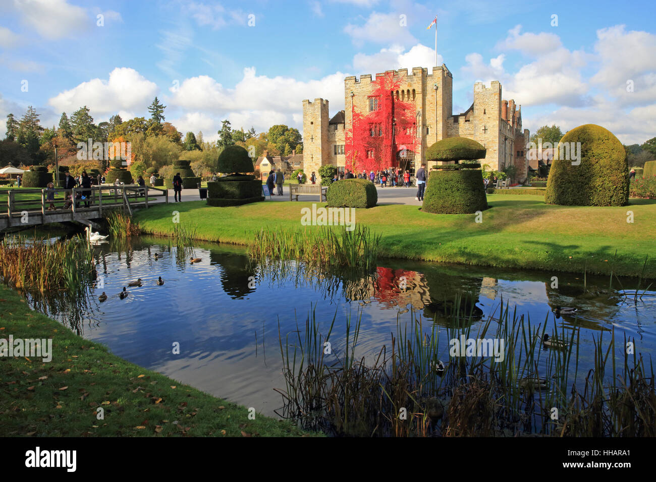 Henry VIII's 2nd wife, Anne Boleyn's childhood hone, Hever Castle, in the Kent countryside, in England, - Stock Image