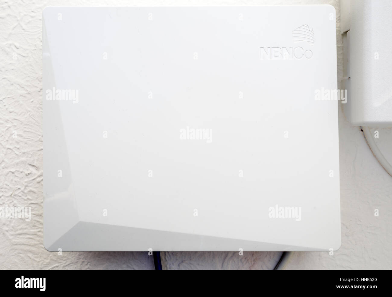 NBN connection box on a wall inside a home Stock Photo: 131167176 ...