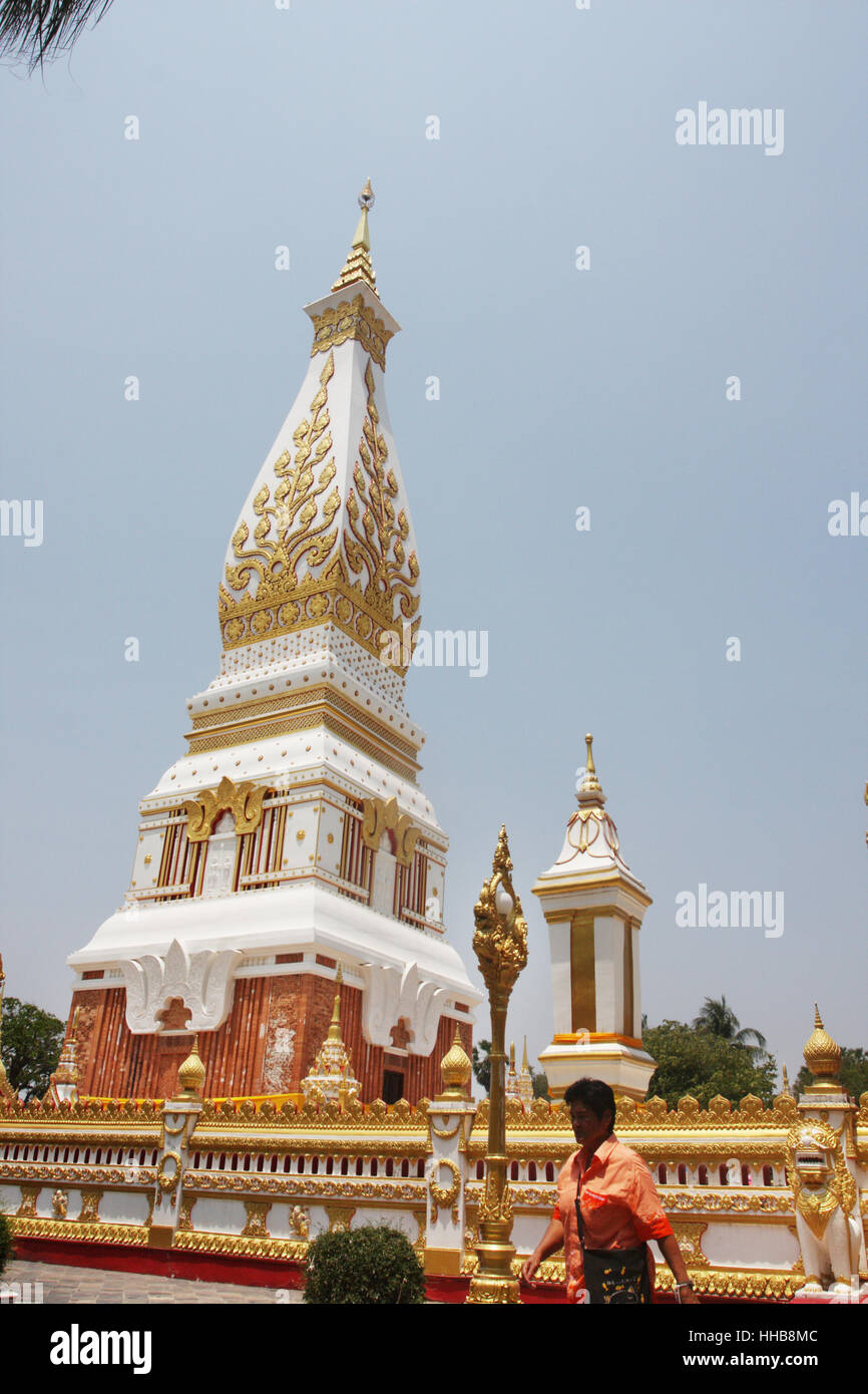 That Phanom in Nakhon Phanom province, northeast of Thailand. - Stock Image