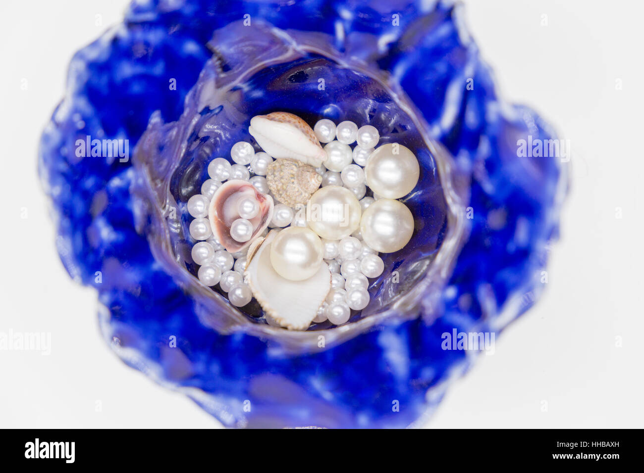 Blue pottery - Stock Image