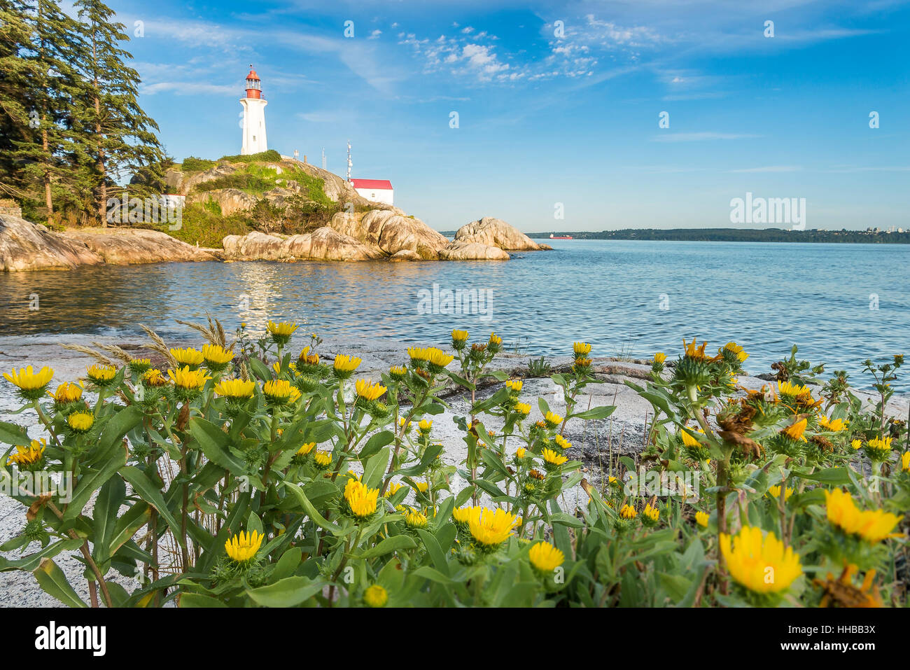 Point Atkinson Light, Lighthouse Park, West Vancouver,  British Columbia, Canada - Stock Image