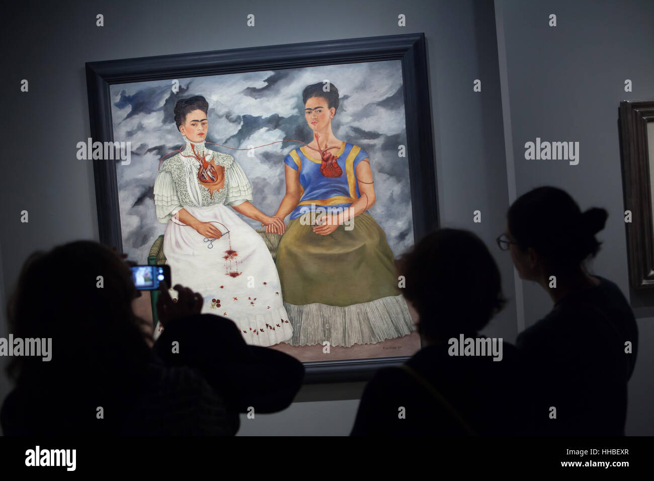 two fridas painting