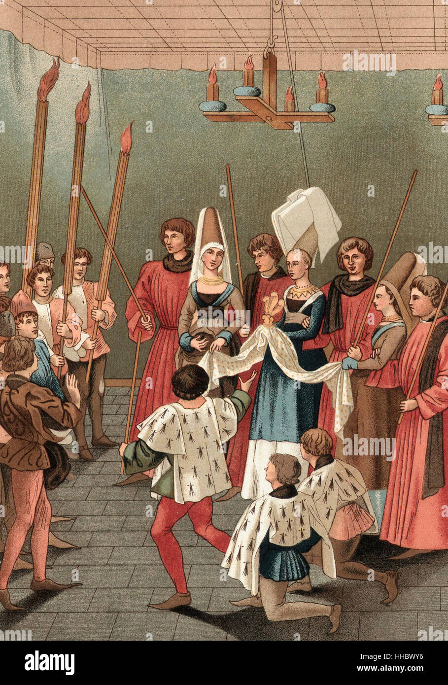 The tournament prize in medieval times - Stock Image