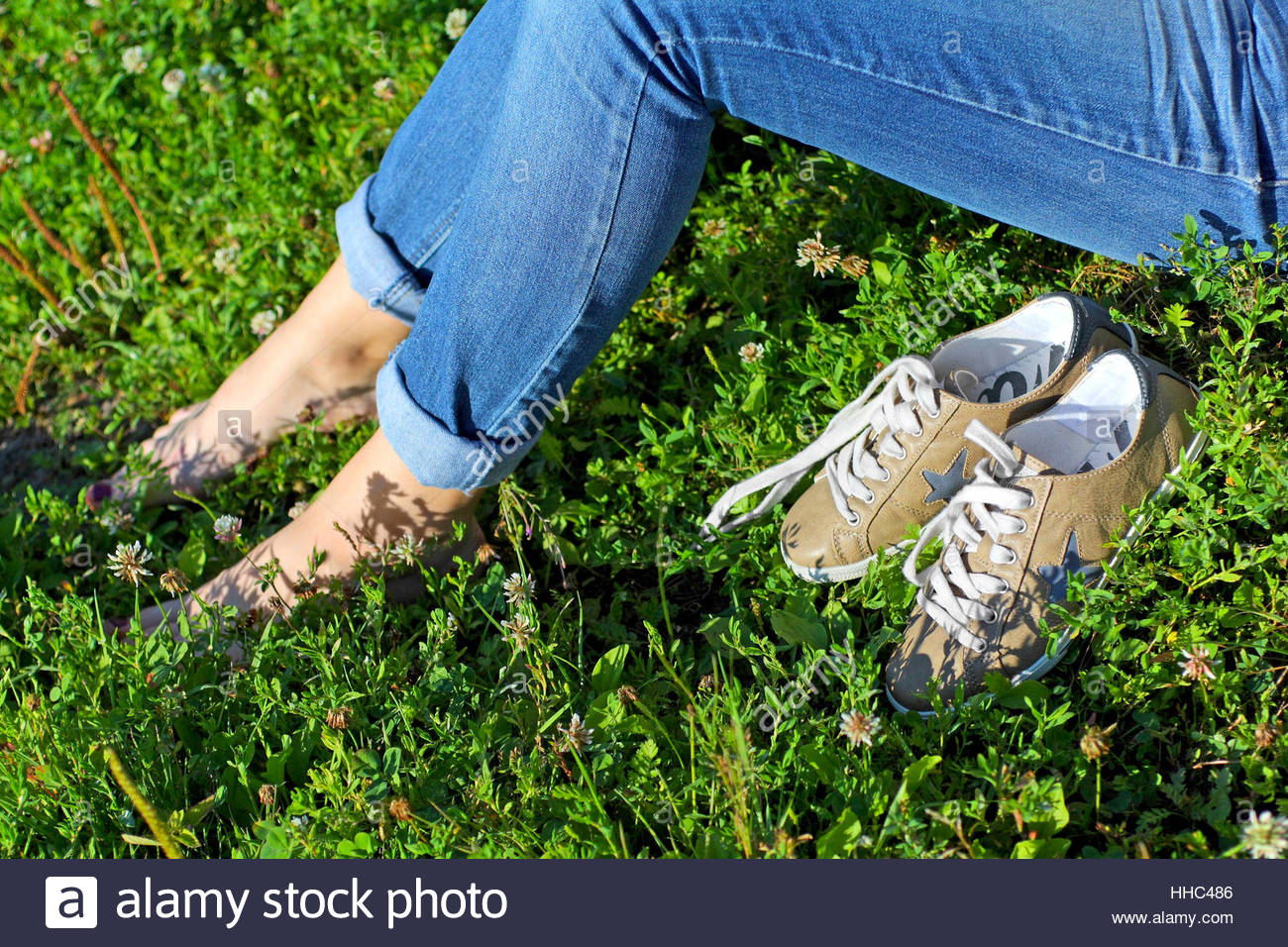woman, legs, blue, humans, human beings, people, folk, persons, human, human - Stock Image