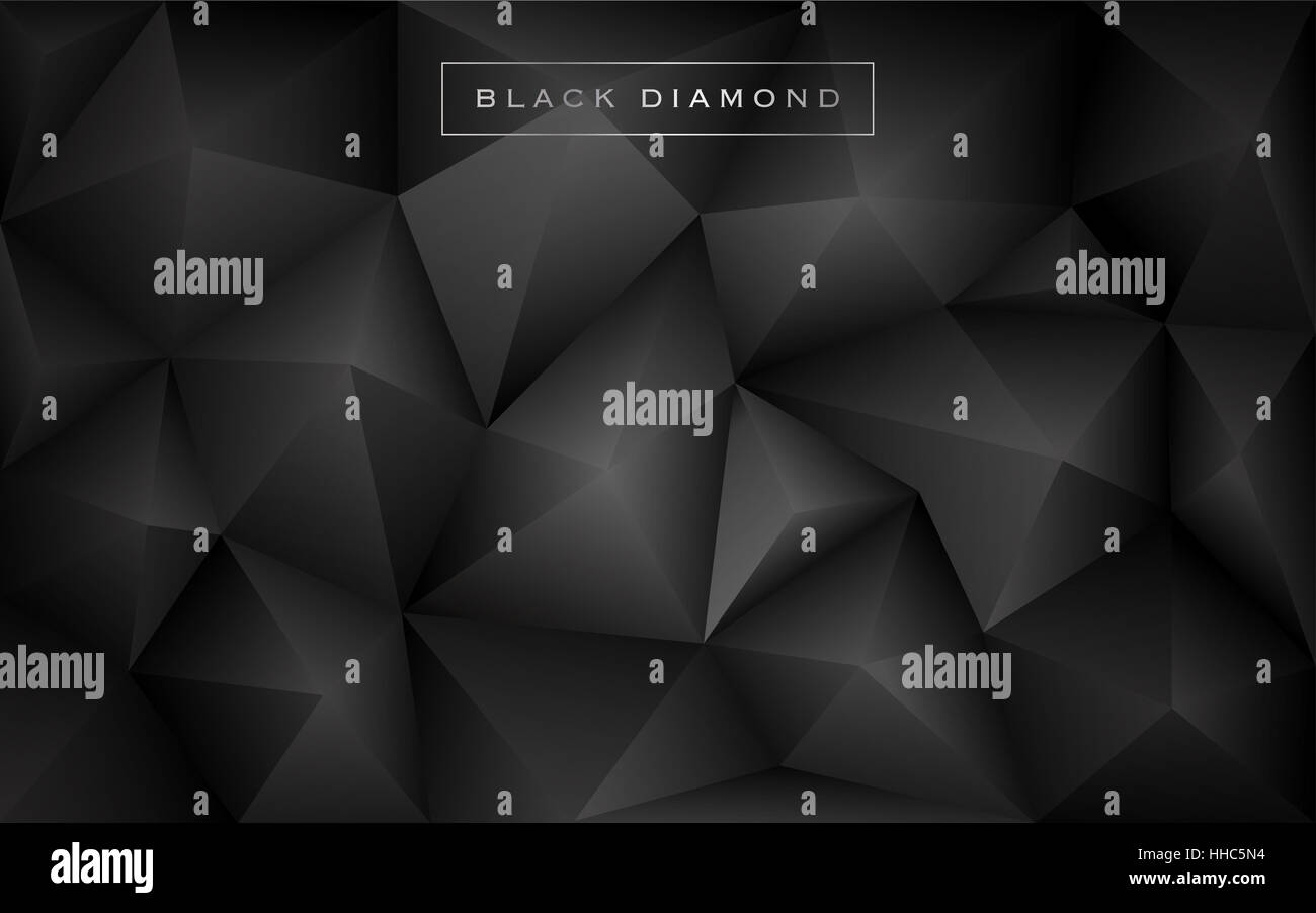 Abstract Black Diamond Polygon Background Luxury Low Poly