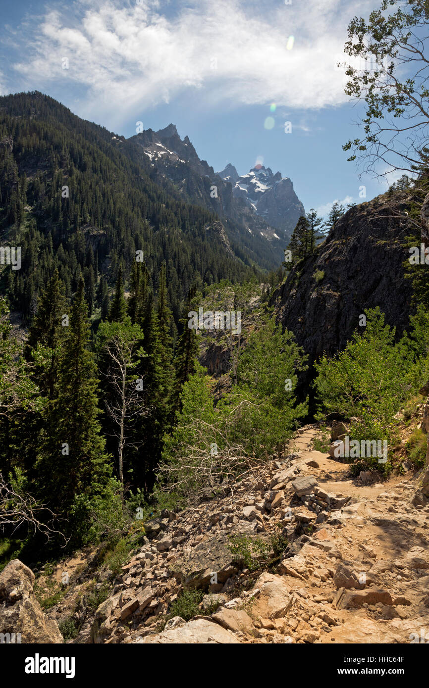 WY02059-00...WYOMING  - Cascade Canyon from the Inspiration Point Trail in Grand Teton National Park. Stock Photo