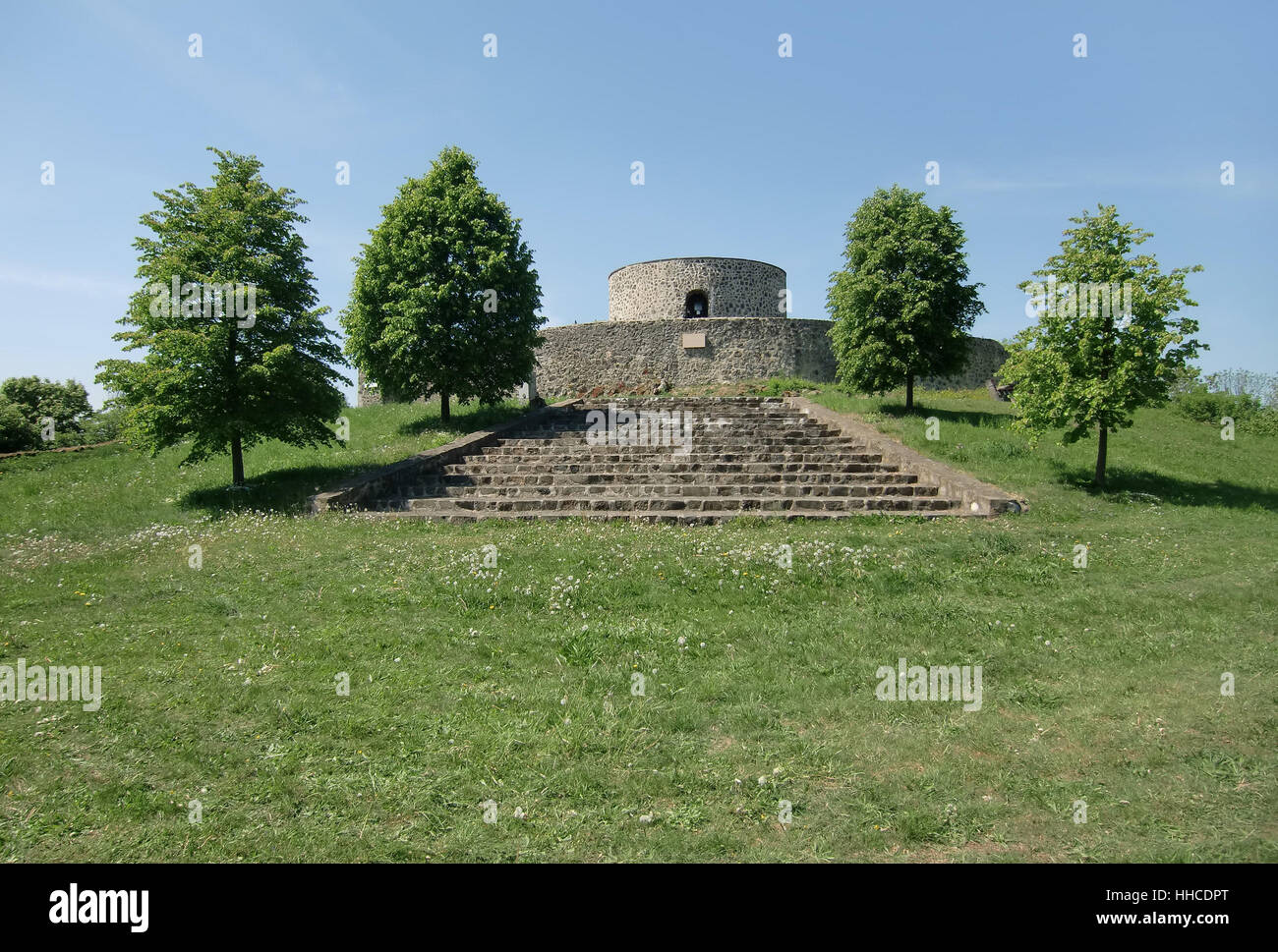 stool, stairs, historical, tree, hill, stone, shine, shines, bright