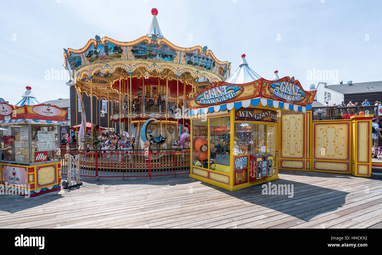 Amusement park at Pier 39, San Francisco, California, United States of America, North America - Stock Image