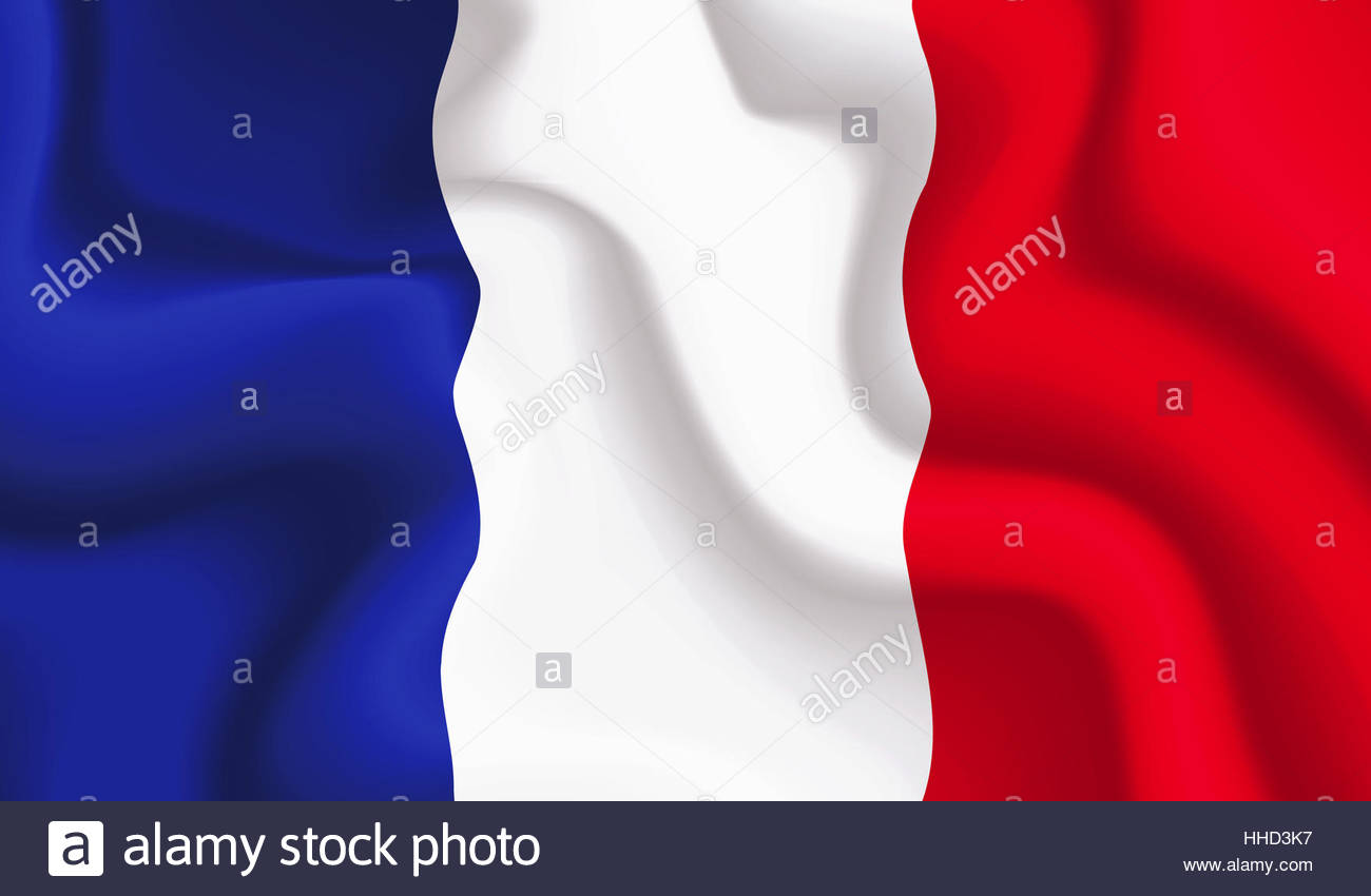 illustration, france, flag, national, french, blue, motion, postponement, - Stock Image