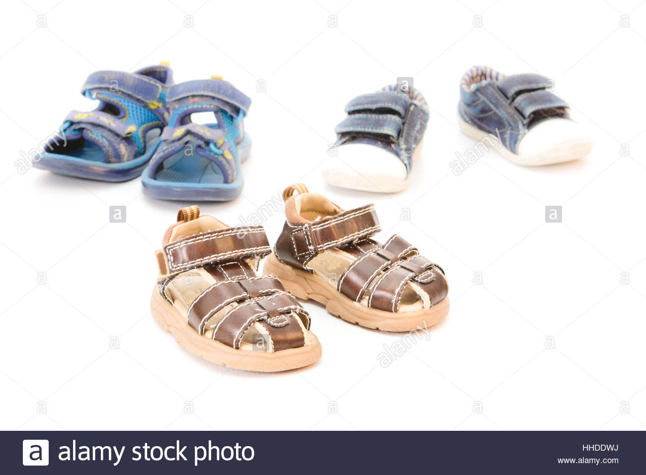 isolated, shoes, leather, feet, ankle-strap sandal, sandals, sandal, second Stock Photo