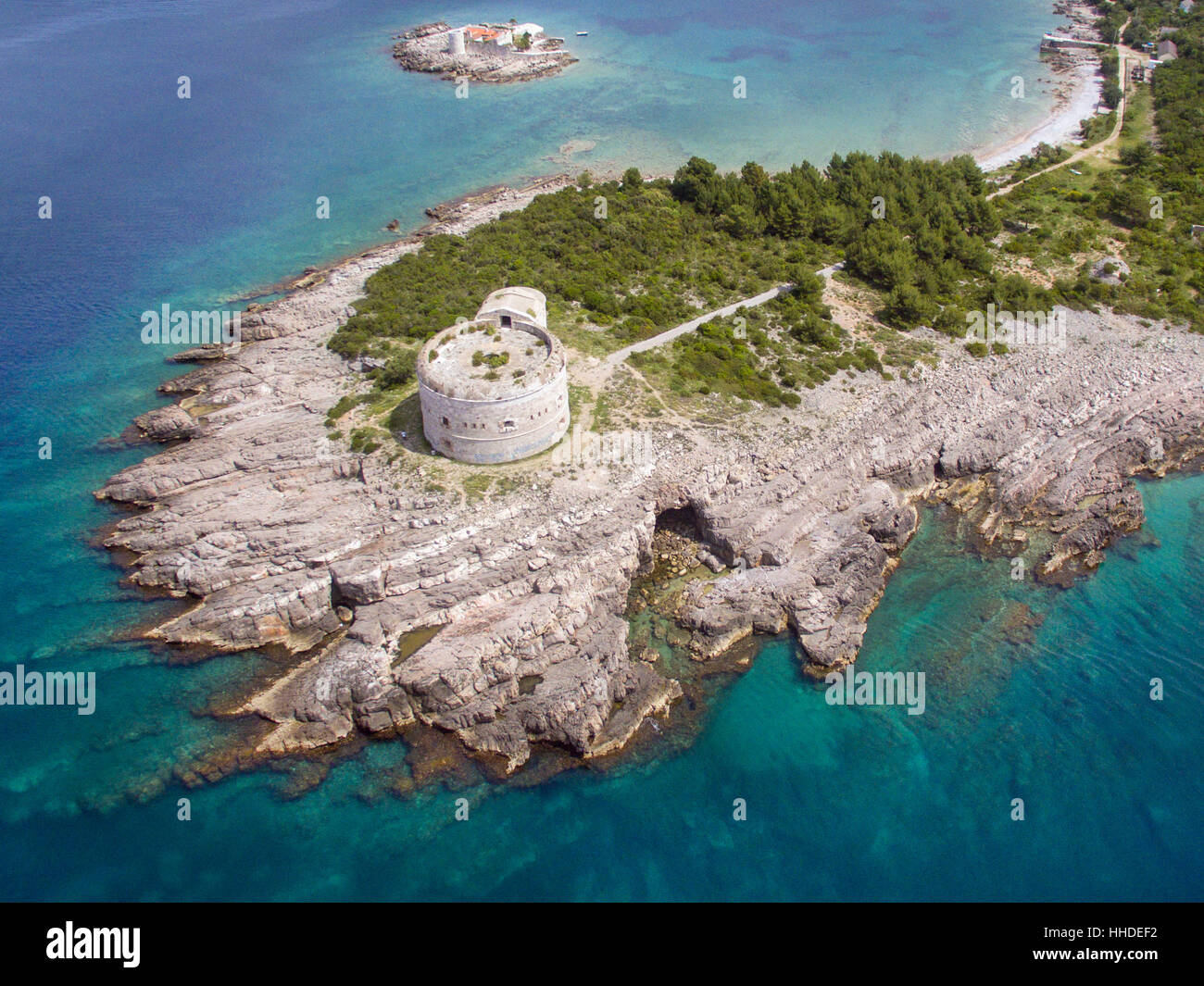 Fort Arza on Lustica peninsula in Montenegro - Stock Image