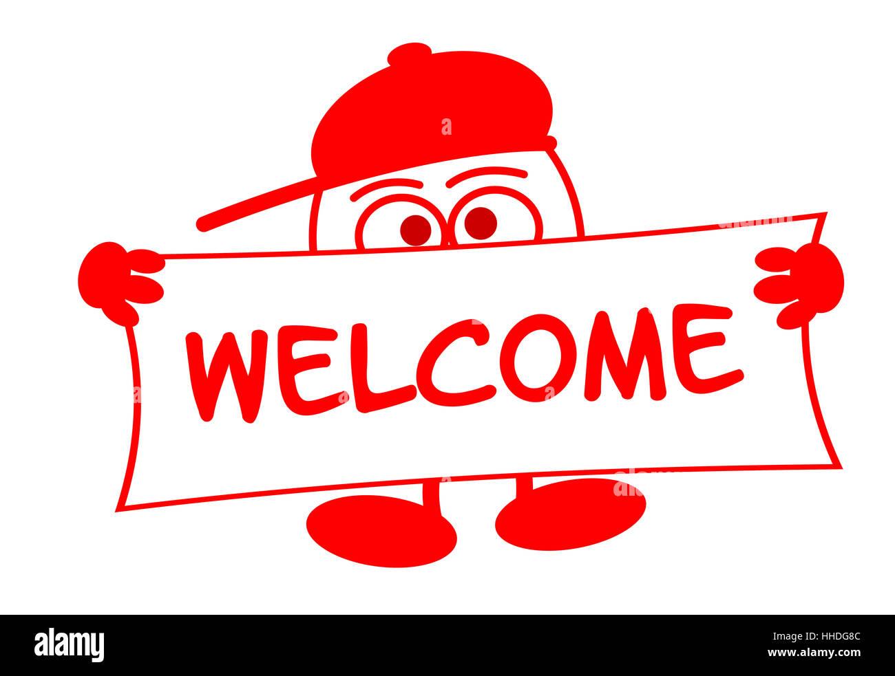 comic, entrance, invitation, welcome, comic, male, masculine, entrance, poster, Stock Photo
