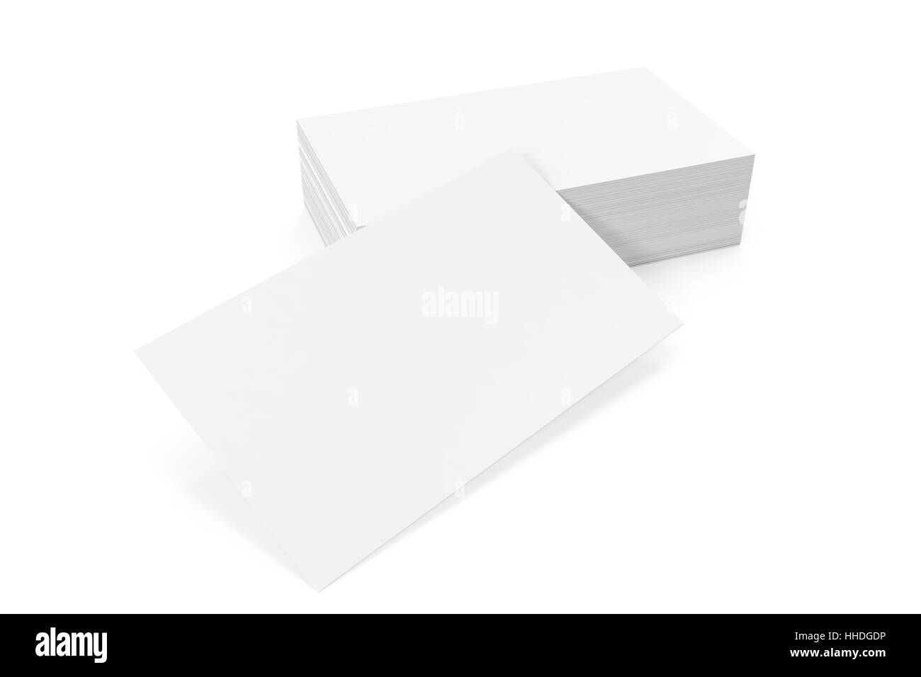 Business Cards Blank Mockup Template On White Background 3d Stock