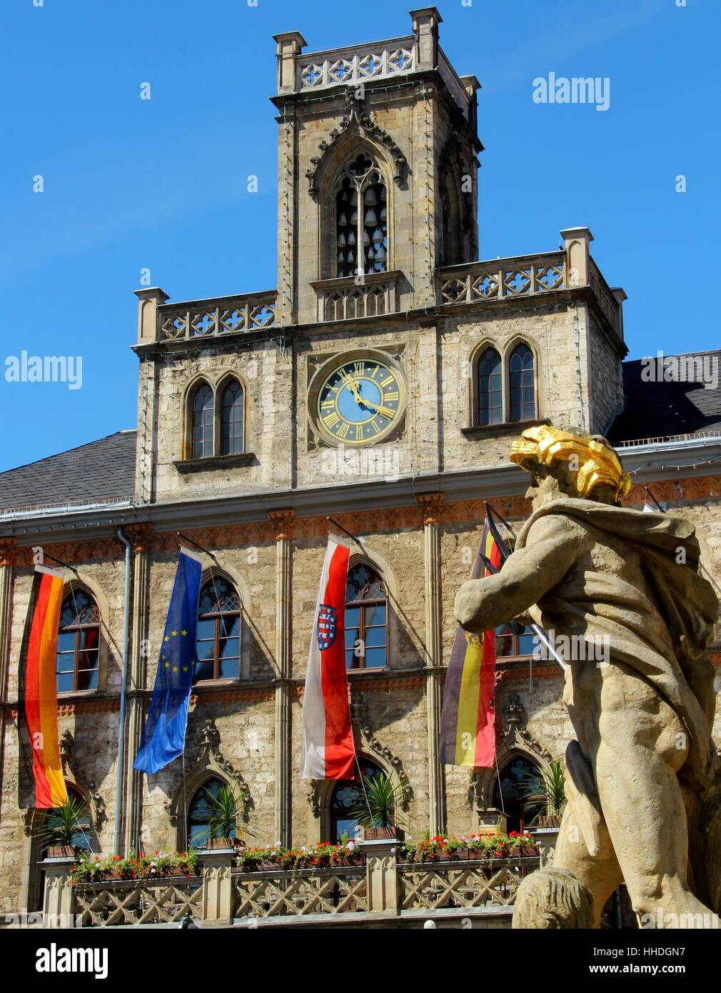 sightseeing, town hall, style of construction, architecture, architectural Stock Photo