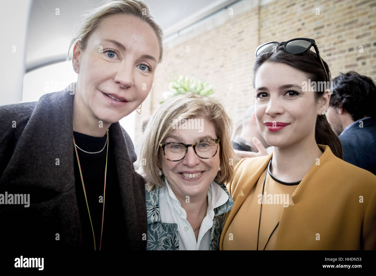 Michaela de Pury (L), Steffi Czerny (C) DLD Co-Founder and Managing Director and Melissa Faber-Castell (R). DLD - Stock Image