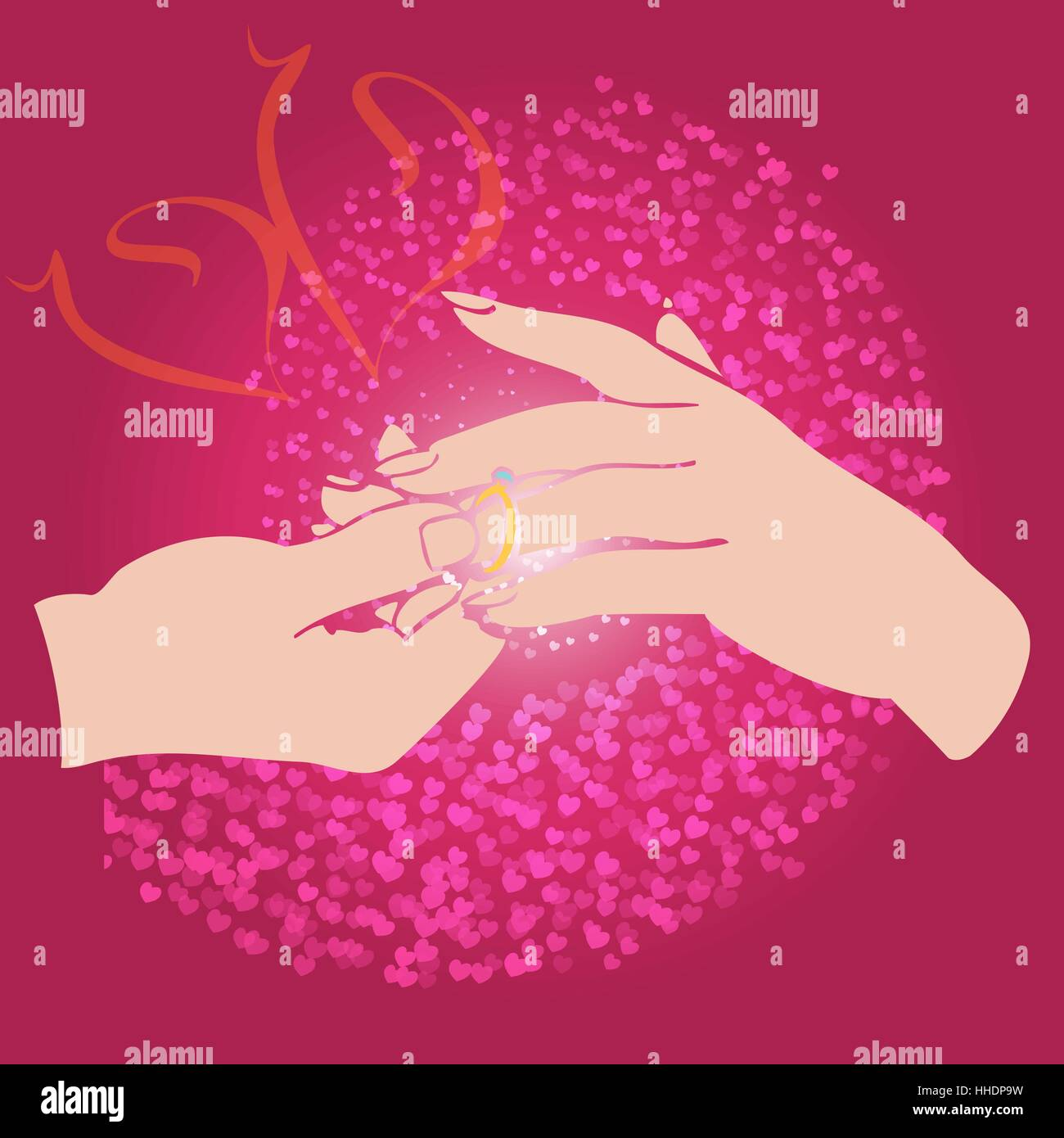 Wedding Ring Finger Stock Vector Images - Alamy