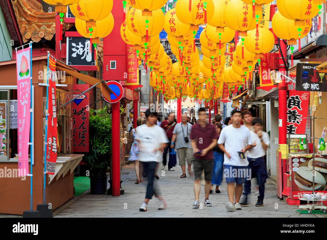 Chinatown, Nagasaki, Kyushu Island, Japan - Stock Image